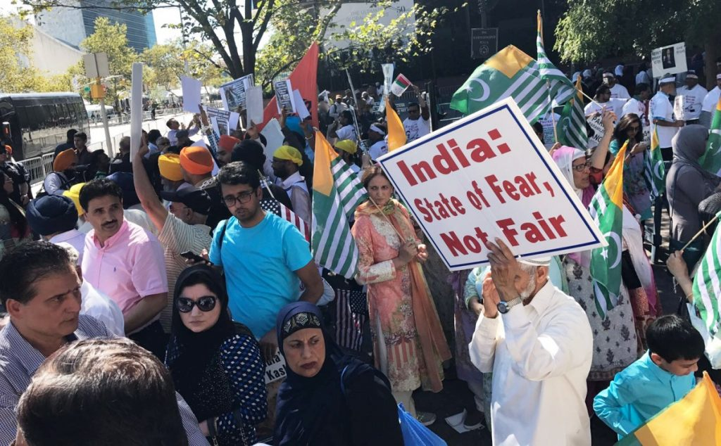 New York: Thousands rally for human rights in Kashmir: Sikh Daily