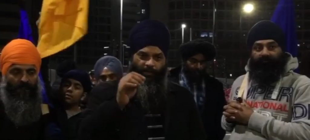 Sikhs for Justice holds protest against Punjab CM in Birmingham : Sikh Daily